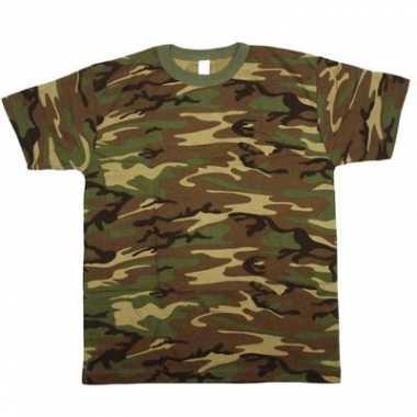 Army leger camouflage t shirt korte mouwen herenoriginele