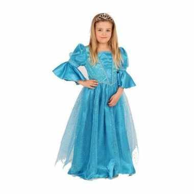 Blauwe prinses carnavalsoutfit meisjesOriginele