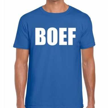 Boef heren t shirt blauworiginele