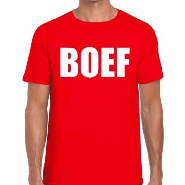Boef heren t shirt roodoriginele