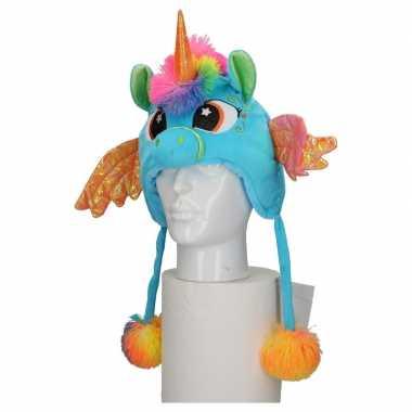 Carnaval eenhoorn muts kids blauworiginele