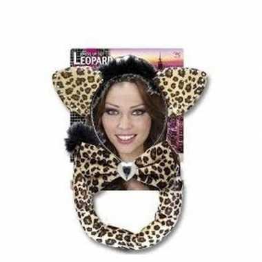 Carnaval verkleedset luipaardje volwassenen