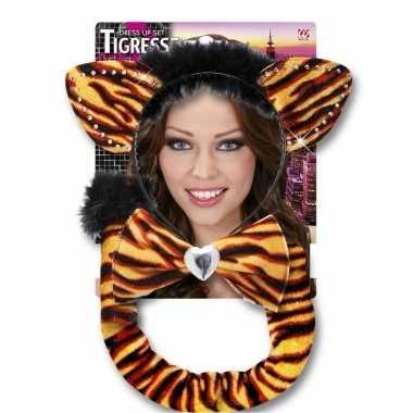 Carnaval verkleedset tijgerrin volwassenenoriginele