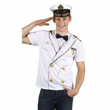 Carnavalscarnavalsoutfit kapitein heren shirtoriginele