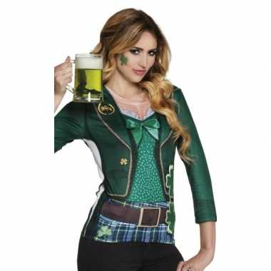 Carnavalscarnavalsoutfit st. patricks day dames shirtoriginele