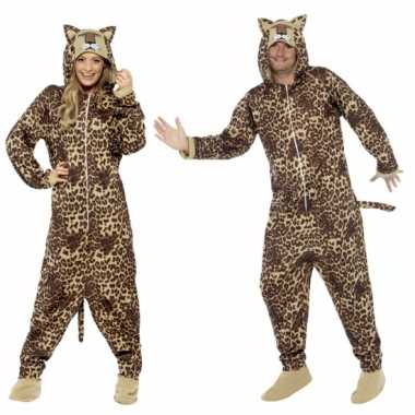 Carnavalsoutfit luipaard all-one volwassenenOriginele