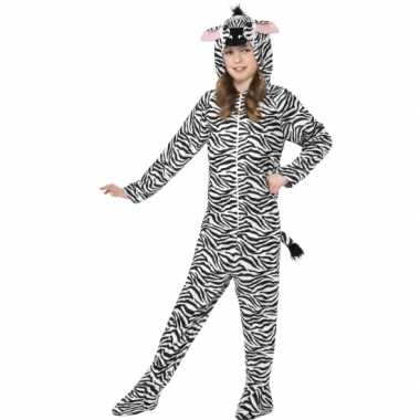 Carnavalsoutfit zebra all-one kinderenOriginele