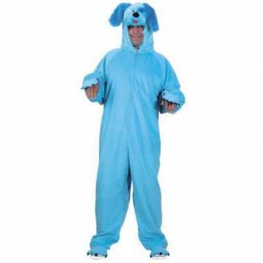 Dieren carnavalsoutfit blauwe hond volwassenen