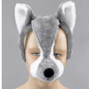 Dieren feestmaskers wolf geluid