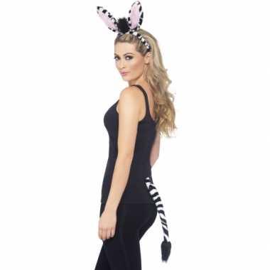 Dieren verkleedset zebra 10078163