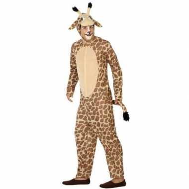 Dierenpak verkleed carnavalsoutfit giraffe volwassenenoriginele