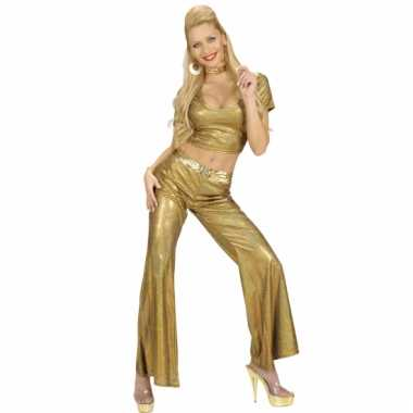 Disco broek goud damesOriginele