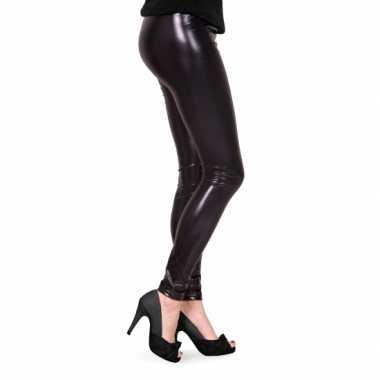 Feestartikelen Glimmende zwarte dames legging