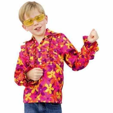Flower Power blouse rouche kidsOriginele