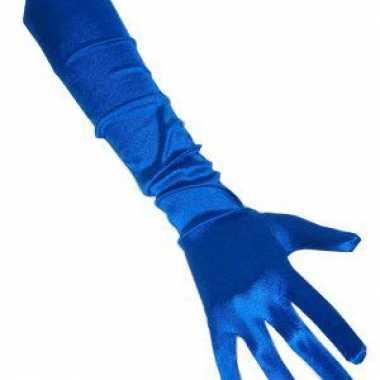 Gala handschoenen blauwOriginele