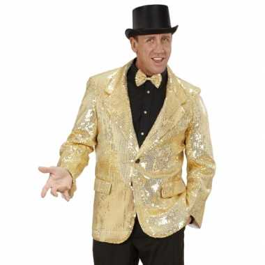 Gouden glitter blazerOriginele