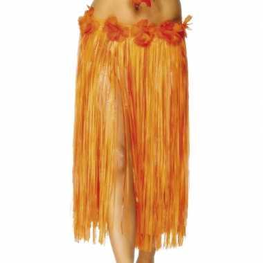 Hawaii rokje oranje rode bloem
