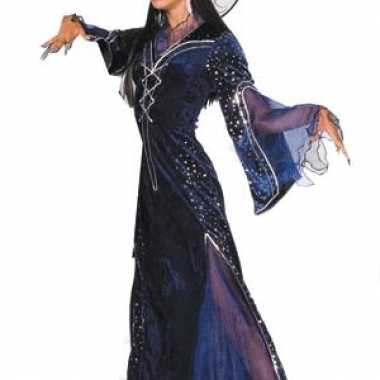 Heksen verkleedkleren jurk paars