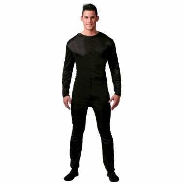Heren bodysuit zwart