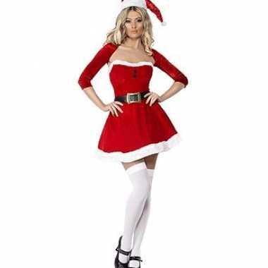 Kerstvrouw jurkje bolero