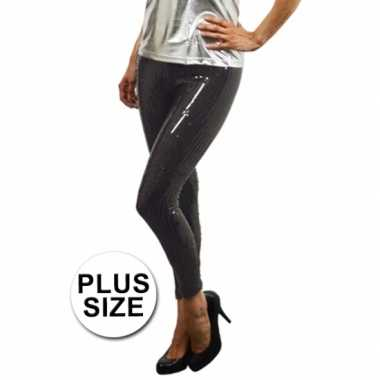 Legging zwarte pailletten plus sizeoriginele
