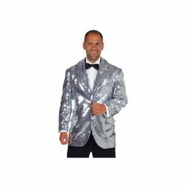 Luxe blazer zilver mannenOriginele