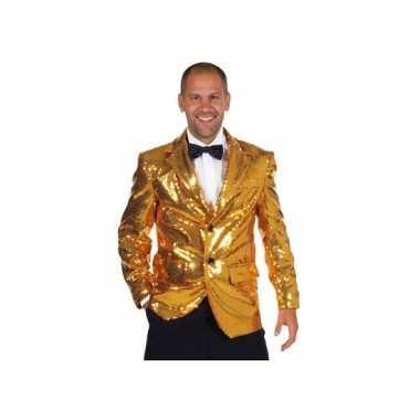 Luxe gouden blazers mannenOriginele