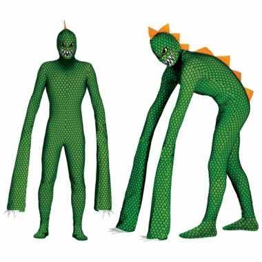Monster reptielen carnavalsoutfit lange armen herenOriginele