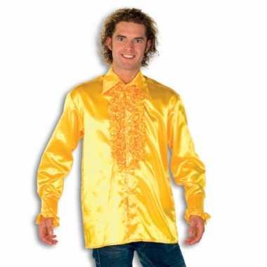 Overhemd geel rouches herenOriginele