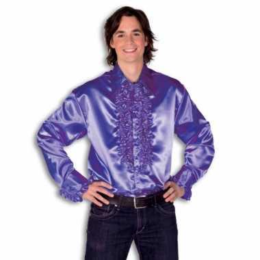 Overhemd paars rouches herenOriginele