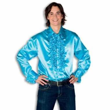 Overhemd turquois rouches herenOriginele