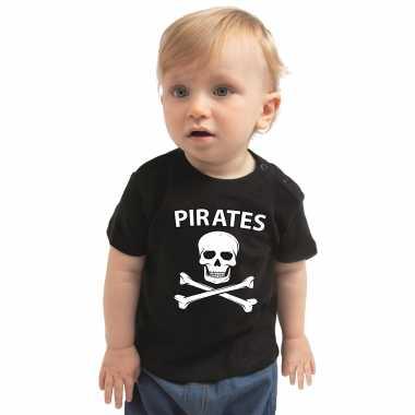 Piraten carnavalsoutfit shirt zwart babysoriginele