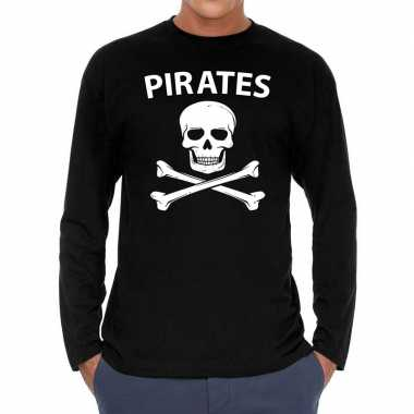 Pirates long sleeve t shirt zwart herenoriginele