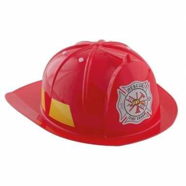 Rode brandweerhelm verkleed accessoire kinderenoriginele