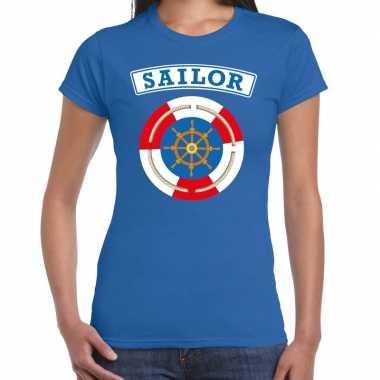 Zeeman sailor verkleed t-shirt blauw dames