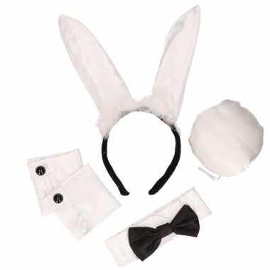 Zwart/witte Playboy Bunny outfitOriginele