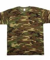 Army leger camouflage t-shirt korte mouwen heren