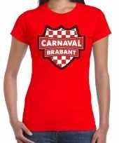 Carnaval verkleed t-shirt brabant rood voor dames