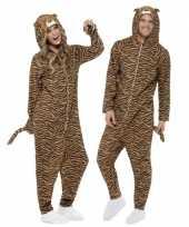 Carnavalsoutfit tijger all one volwassenen