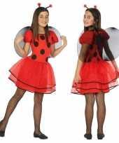 Dierenpak lieveheersbeestje verkleed jurk jurkje meisjes
