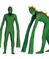 Monster reptielen carnavalsoutfit lange armen heren