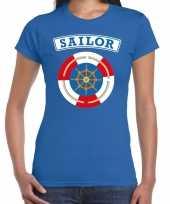 Zeeman sailor verkleed t shirt blauw dames