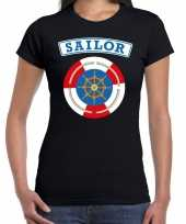 Zeeman sailor verkleed t shirt zwart dames